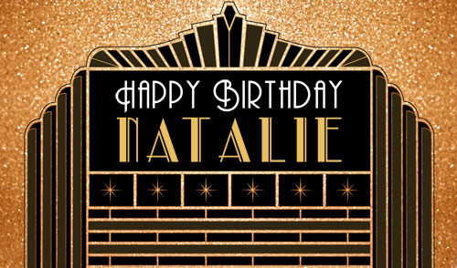 Personalized & custom adults birthday party banner for sale. Your message and text. The Great Gatsby 1920's theme