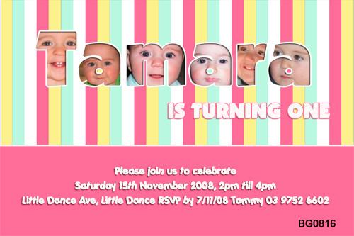Girls Name Frame Birthday Party Invitations