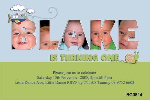 Name Frame Birthday Party Invitations