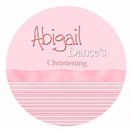 Personalised baptism or christening labels - pink ribbon girls theme. For sale online - order online