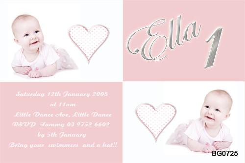 Pink Milestone Birthday Party Invitations