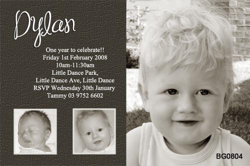 Baby Boys Birthday Party Invitations