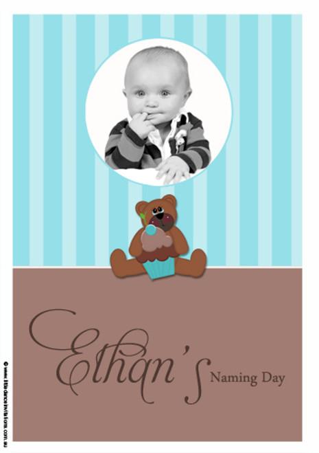 Teddy Bear Personalised Baptism Cake Icing