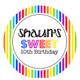 Rainbow Stripe Party Personalised Birthday Cake Icing.