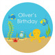 Under the Sea Birthday Party Labels and Stickers.