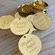 Gold Mirror personalised favor tags