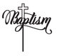 Baptism with Cross Religious Cake Topper - Baptism with Crucifix Religious Cake Decoration
