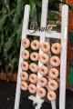 Acrylic donut wall
