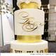 Wedding Cake Initials Decoration in Gold mirror. Made in Melbourne Australia
