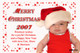 Personalised photo Christmas card using a baby photo