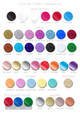 Donut stand colour chart