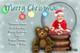 Custom photo Christmas cards - snow globe or bauble theme