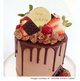 Happy Birthday Gold Mirror Cake Charm