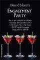 Personalised engagement party invitation - Martini theme. Australian online invitation shop near me. Melbourne, Brisbane, Sydney, Canberra, Adelaide, Perth