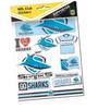 Sharks Sticker Sheet