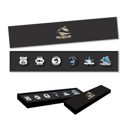 Sharks Logo Pin Set