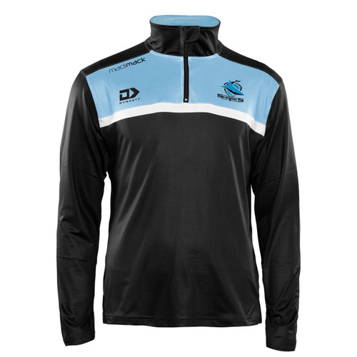 2021 Sharks Mens 1/4 Zip Long Sleeve Tee