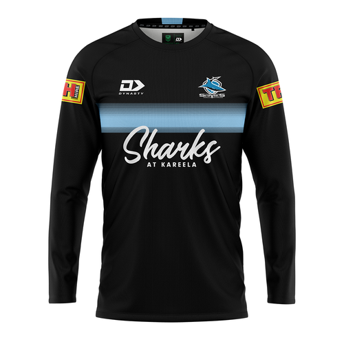 2021 Sharks Mens Long Sleeve Training Tee