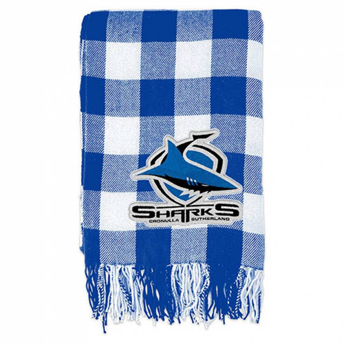 Sharks Tartan Throw