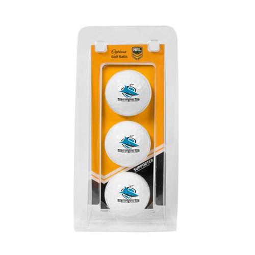 Sharks Optima Team Golf Ball Pack