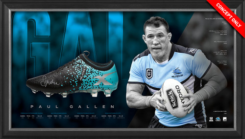 Paul Gallen Retirement Signed Boot