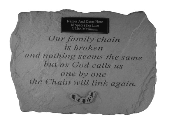 53720-Our Family Chain (With Marble Plaque)