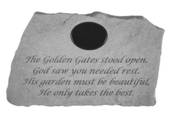 58621-The Golden Gates (With Marble Plaque)