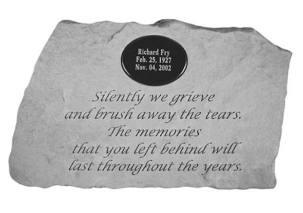 58821-Silently We Grieve (With Marble Plaque)